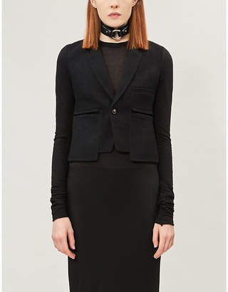 Rick Owens Alice cropped wool and cotton-jersey blazer