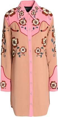 Coach Embroidered Cady Mini Shirtdress