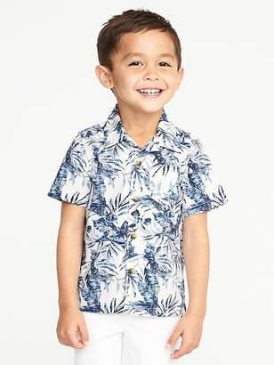 Old Navy Floral-Print Built-In Flex Getaway Shirt for Toddler Boys