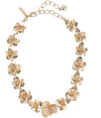 Oscar de la Renta Brushed Flower Necklace