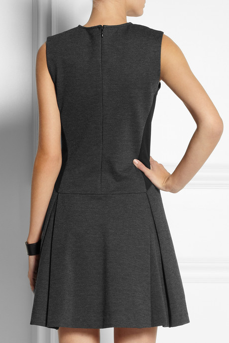 Chalayan Two-tone stretch-jersey dress