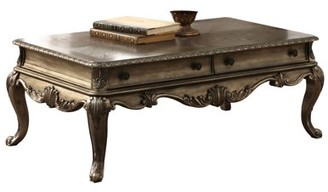 ACME Furniture Acme Ragenardus Victorian Coffee Table in Vintage Oak