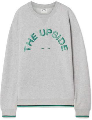 The Upside Sid Printed Cotton-jersey Sweatshirt - Gray