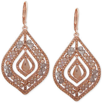 lonna & lilly Pave & Stone Beaded Chandelier Earrings