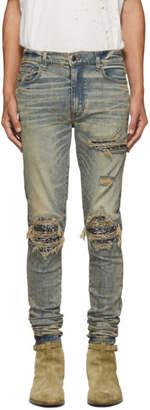 Amiri Indigo MX1 Bandana Jeans