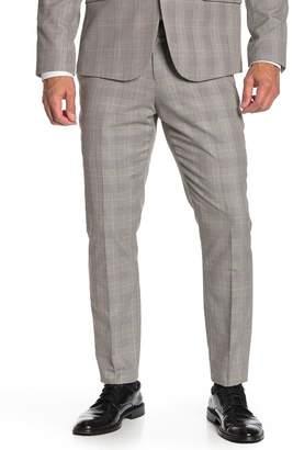 14th & Union Black & White Plaid Extra Trim Fit Suit Separates Pants
