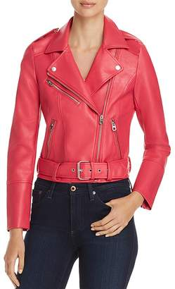 Vero Moda Oxford Faux-Leather Moto Jacket