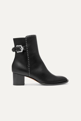 Givenchy Elegant Studded Leather Ankle Boots - Black