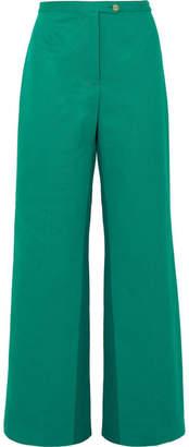 Acne Studios Tyrah Cotton-twill Wide-leg Pants - Forest green
