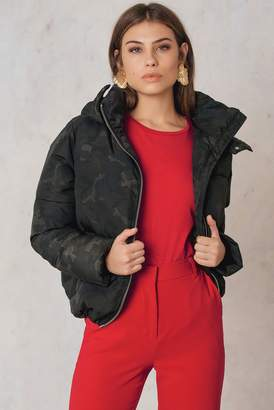 NA-KD Na Kd Camo Padded Jacket Camo/Grey