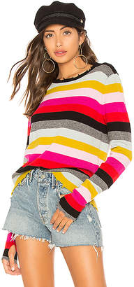 Pam & Gela Multistripe Crew Neck Sweater