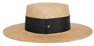 Signature Boater Hat bao black strap