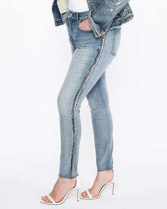 Express High Waisted Seam Detail Perfect Curves Jean Leggings