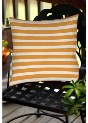Thumbprintz Bright Stripes Orange Indoor/Outdoor Pillow