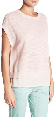 VINCE. Wool & Cashmere Cap Sleeve Sweater $265 thestylecure.com