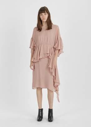 Rachel Comey Tousle Silk Chiffon Dress Mauve