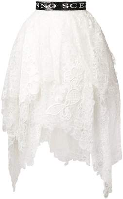 Ermanno Scervino embroidered flared midi skirt