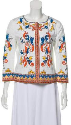 Philosophy di Alberta Ferretti Baroque Printed Casual Jacket