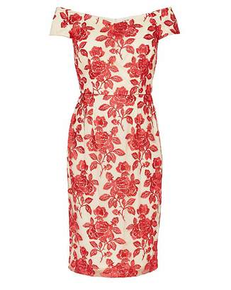 Gina Bacconi Jazelle Embroidered Dress