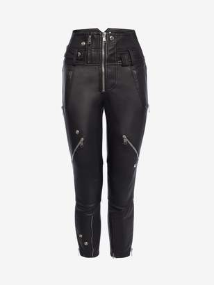 Alexander McQueen Leather Capri Pants
