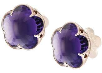Pasquale Bruni 18K Rose Gold Bon Ton Amethyst Floral Stud Earrings