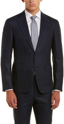Canali 2Pc Wool-Blend Suit With Flat Pant