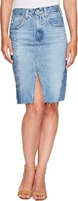 AG Adriano Goldschmied Women's The Emery Jean Skirt-Repurposed