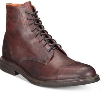 Frye Men Ben Cap-Toe Leather Lace-Up Boots, Men Shoes