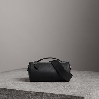 Burberry The Leather Barrel Bag, Black