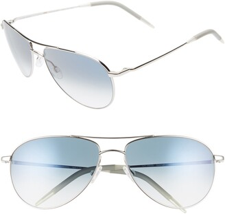 Oliver Peoples Benedict 59mm Gradient Aviator Sunglasses
