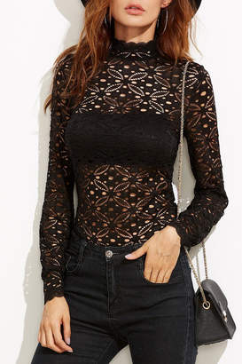 Atelier House of Floral Lace Blouse