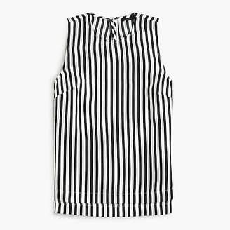 J.Crew Tall striped silk top