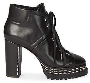 Alaia Women's Studded Leather Platform Ankle Boots