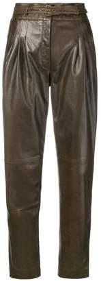 Alberta Ferretti wet-look trousers