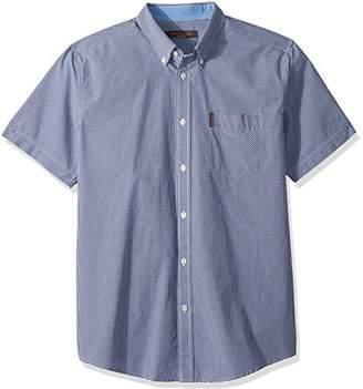 Ben Sherman Men's Short Sleeve Micro Gingham Shirt