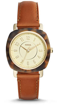 Fossil Idealist Three-Hand Luggage Leather Watch