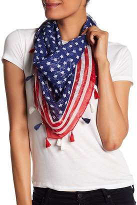 Collection XIIX Stars & Stripe Triangle Scarf