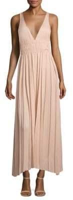 Elizabeth and James Ellison Pleated Maxi Dress