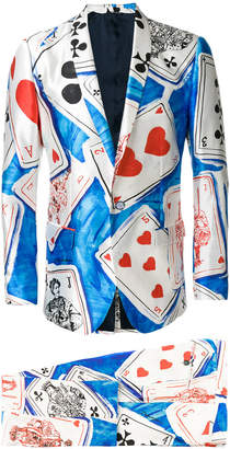 Dolce & Gabbana slim-fit playing cards suit