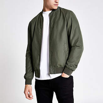 River Island Khaki green bomber jacket