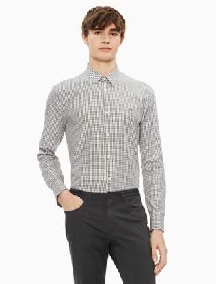 Calvin Klein new essentials classic fit check logo button down shirt