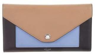 Celine 2016 Tricolor Multifunction Pocket Wallet
