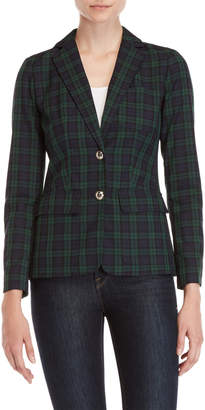 Tommy Hilfiger Green Plaid Blazer