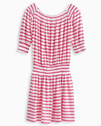 Splendid Girl Off The Shoulder Stripe Dress