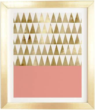 Deny Designs Georgiana Paraschiv Gold Triangles By Glam Decor
