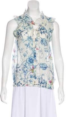 Joie Printed Sleeveless Top