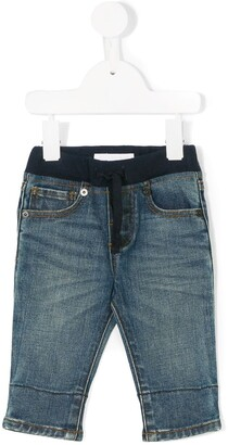 Burberry elasticated waist jeans