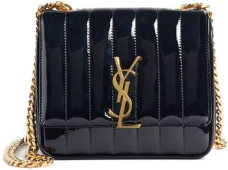 Saint Laurent Small Vicky Patent Leather Crossbody Bag
