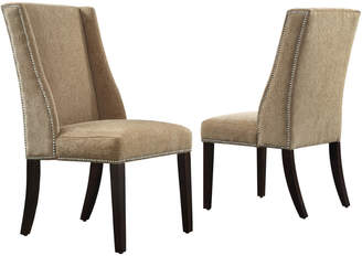 Inspire Q Set Of 2 Wingback Dining Chairs