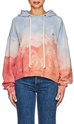 RE/DONE Women's Tie-Dyed Distressed Cotton Oversized Hoodie